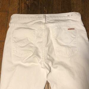 White Hudson Midrise ELLE Baby Boot Skinny Jeans
